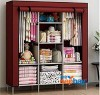 3 Layer Storage Wardrobe Model 88130 Shelf Rack Fancy And Foldable (Brown)