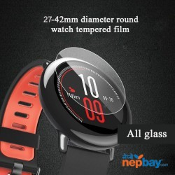 9H Universal Round Tempered Glass Protective Film Screen Protector Cover For LG MOTO Xiaomi Huami Amazfit Smart watch