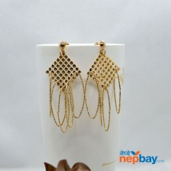 Golden Lightweight Loop Drop Earrings