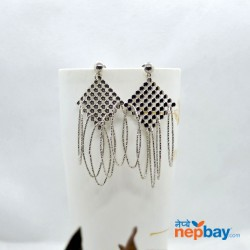 Silver Lightweight Loop Drop Earrings