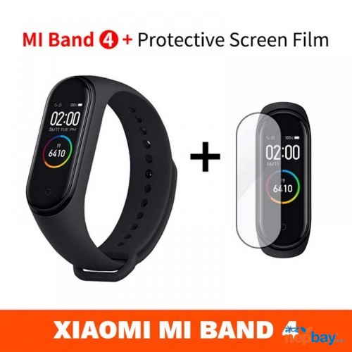 Newest 2019 Original Xiaomi Mi Band 4 Smart Color Screen Bracelet Heart Rate Fitness 135mAh Bluetooth5.0 50M Swimming Waterproof - FREE SCREEN PROTECTOR