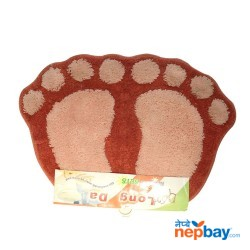 "Modern Design Footprint Doormat 26"" x 18"""