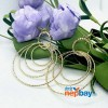 Golden Layered Loops Lightweight Dangling Earrings