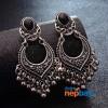 Silver Toned Ethnic Fashion Metal Tassel Earrings