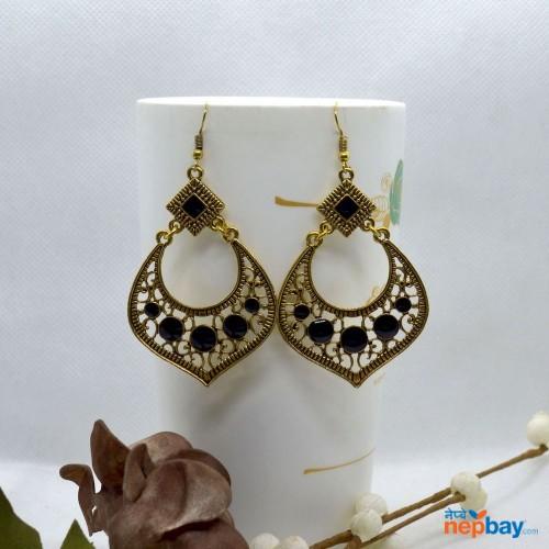 Golden Casual Chandbali Designed Earrings