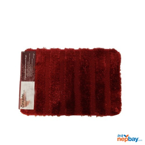 "Dark Maroon Accent Rug 24"" x 16"""