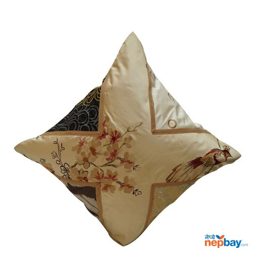 "16"" x 16"" White Based Designer Floral Cushion Cover 5 Pcs"