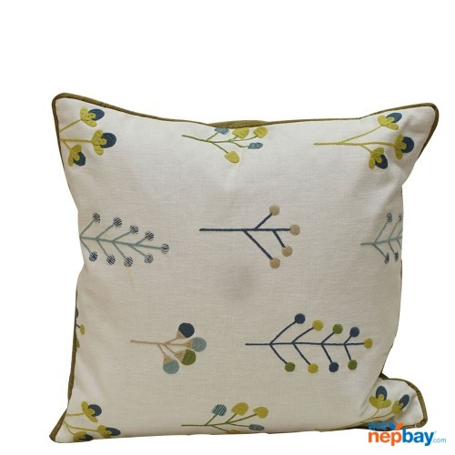 "16"" x 16"" White Based Simple Design Cushion Cover 5 Pcs"