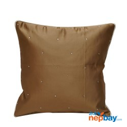 """16"""" x 16"""" White Spotted Tan Brown Cushion Cover 5 Pcs"""