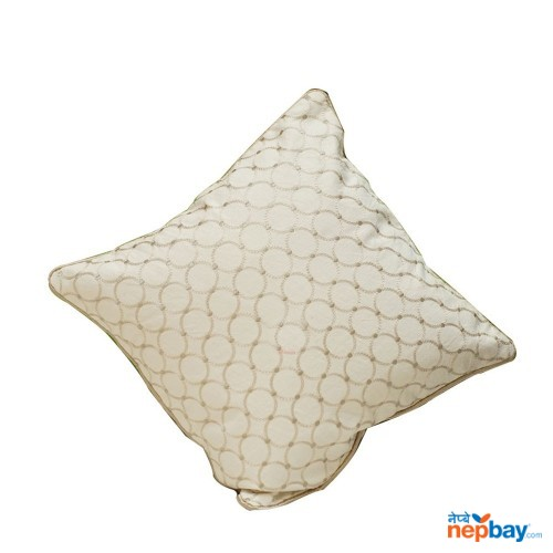 "16"" x 16"" Patterned White Cushion Cover 5 Pcs"