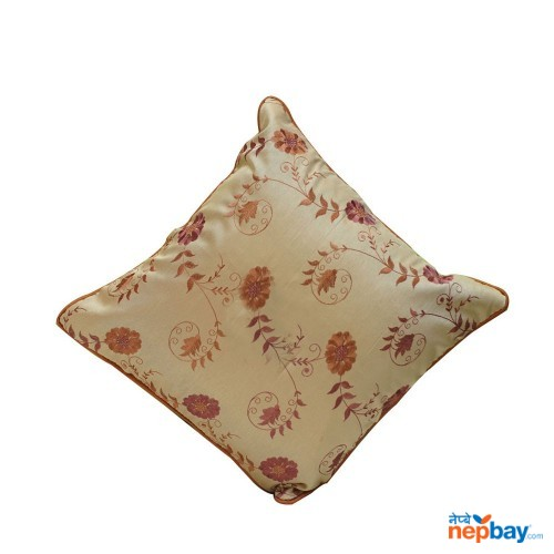 "16"" x 16"" Decorative Floral Cream Colored Cushion Cover 5 Pcs"