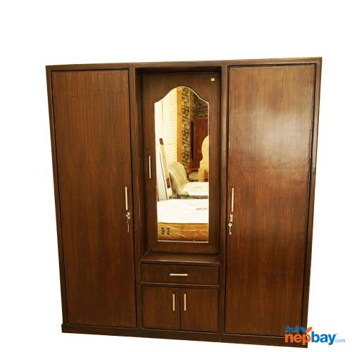 Wooden 3 Piece Cupboard With Mirror