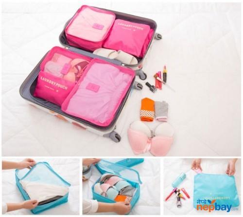 Mesh Travels Storage Bags (6 pcs Set)