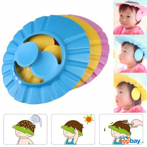 Adjustable Baby Shower Cap with Ear Shield