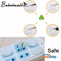 6 pcs Safety Guard for Socket (2 and 3 Hole Power Socket Cover)