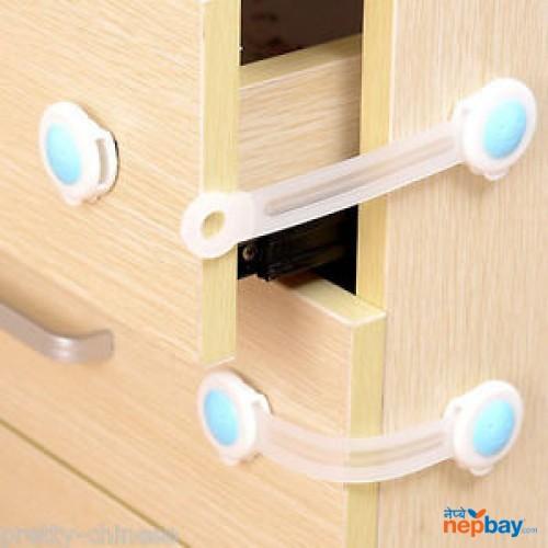 3 pcs Baby Kids Box Drawer Cupboard Cabinet Wardrobe Door Fridge Safe Safety Lock