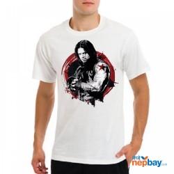 Marvel White Printet Cotton T-Shirt