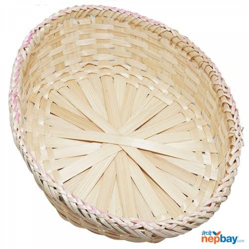 Bamboo Fruit Basket - Oval Shape