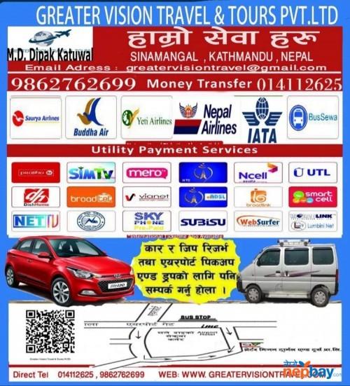 Air ticket and car rental