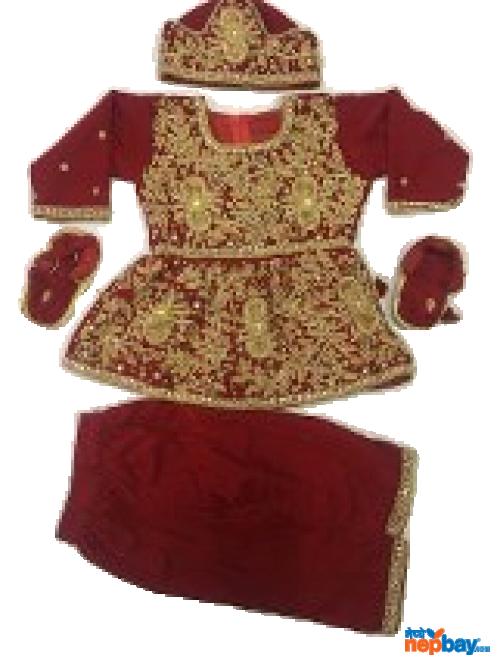 Baby Girl Velvet Net Pasni Dress