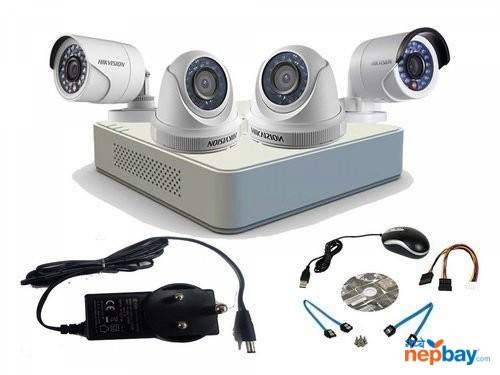 FULL SET OF FOUR CCTV CAMERA(no hidden price)