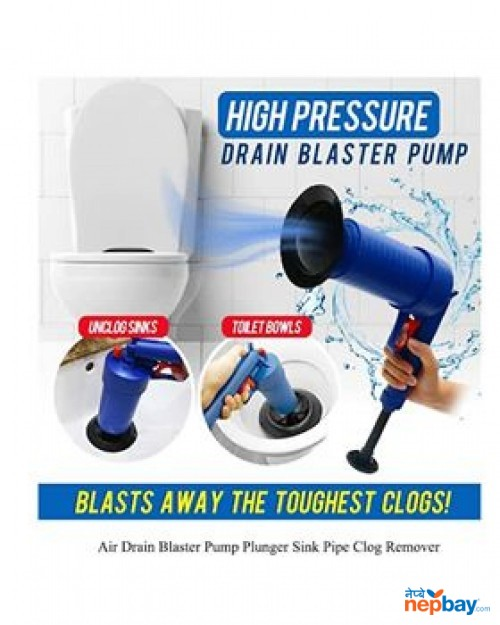 Air Drain Blaster Pump Plunger Sink Pipe Clog Remover