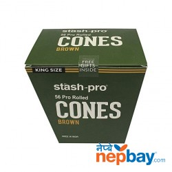 STASH-PRO PRE-ROLLED CONE - BROWN