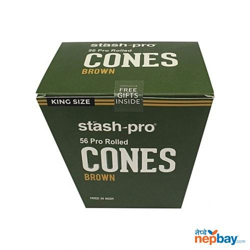 STASH-PRO PRE-ROLLED CONE - BROWN