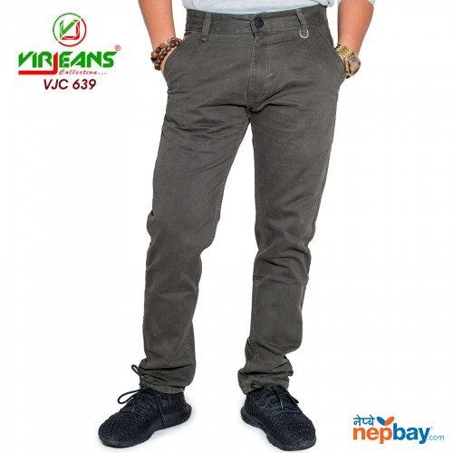 Virjeans Non-stretchable Cotton Pant (VJC 639)