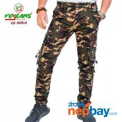 Virjeans Mens Combat Box Joggers Pant (VJC 668) Stretchable