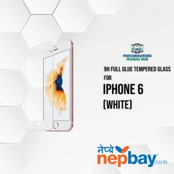 9H Full Glue 5D Glass for iPhone 6 White