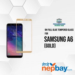 9H Full Glue 5D Glass for Samsung A6 Gold