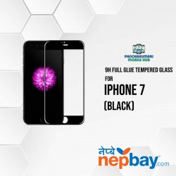 9H Full Glue 5D Glass for iPhone 7 Black