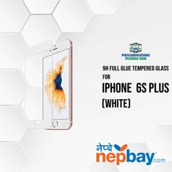 9H Full Glue 5D Glass for iPhone 6S Plus White