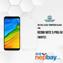 9H Full Glue 5D Glass for Redmi Note 5 Pro/Ai White