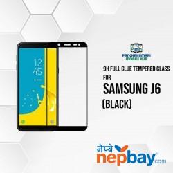 9H Full Glue 5D Glass for Samsung J6 Black