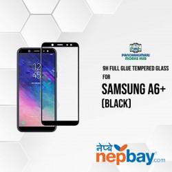 9H Full Glue 5D Glass for Samsung A6 Plus Black