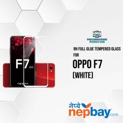 9H Full Glue 5D Glass for Oppo F7 White