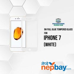 9H Full Glue 5D Glass for iPhone 7 White