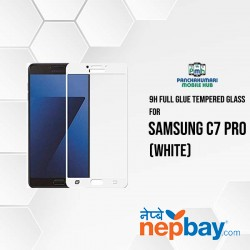 9H Full Glue 5D Glass for Samsung C7 Pro White