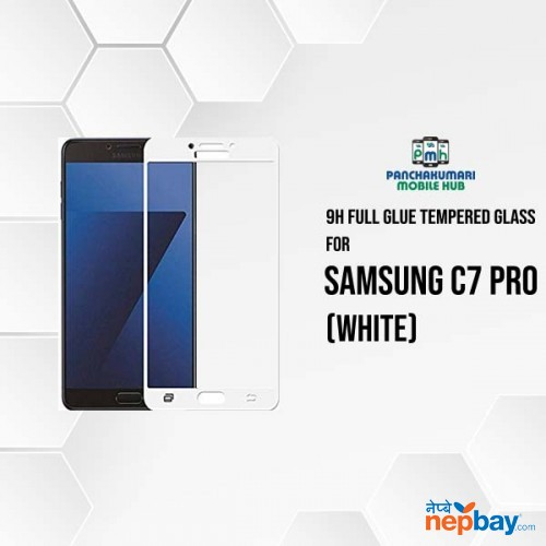 9H Full Glue 5D Glass for Samsung C7 Pro White