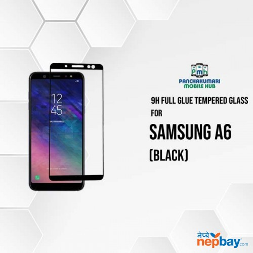 9H Full Glue 5D Glass for Samsung A6 Black