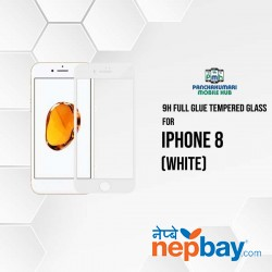 9H Full Glue 5D Glass for iPhone 8 White