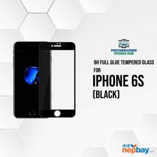 9H Full Glue 5D Glass for iPhone 6S Black