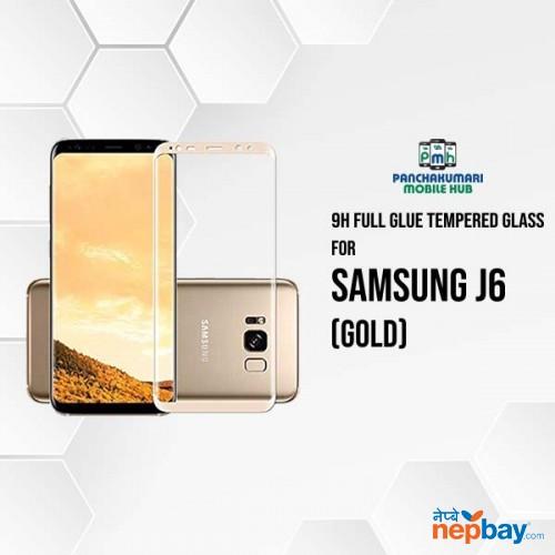 9H Full Glue 5D Glass for Samsung J6 Gold