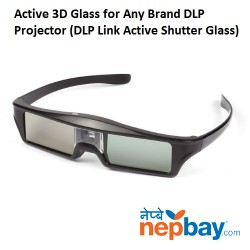 Active 3D Glass for Any Brand DLP 3D Projector, DLP Link Active Shutter Glasses