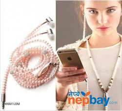 Pearl Necklace Earphone