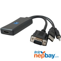Hdmi To Vga Converter (hd Resolution Output With Audio)