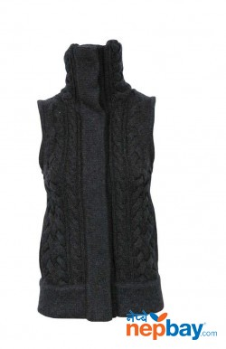 Cashmere cable gilet