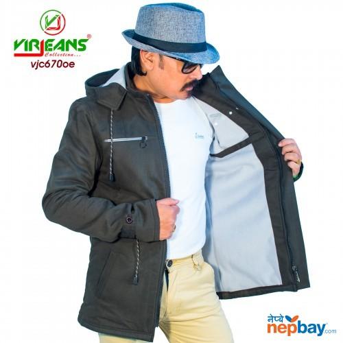 Virjeans Cotton Long Jacket Korean Design Inner Fur (VJC 670)